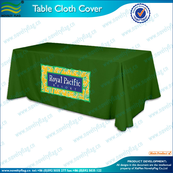 High quality custom logo and size printed table cloth