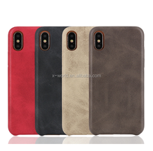 OEM ODM Luxury Leather Cell Phone Bags for iPhone X, Ultra Thin Mobile Back Cover for iPhone X