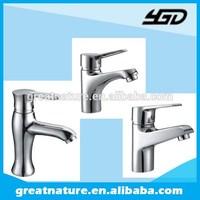 Chrome plating single lever brass wash basin mixer