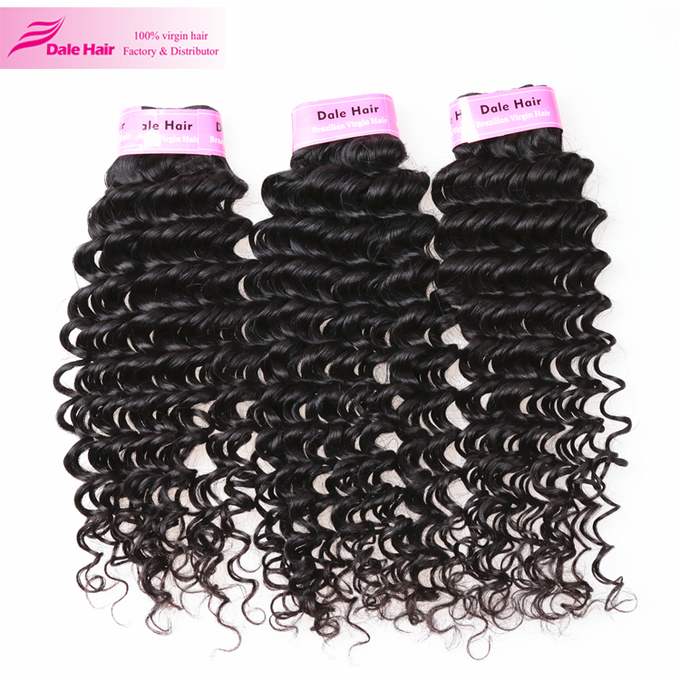 High quality grade 7a human raw hair unprosssed virgin brazilian jerry curl hair weave