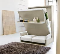China Patented Folding Wall Bed ,Hidden Wall Bed,Murphy Bed with Sofa