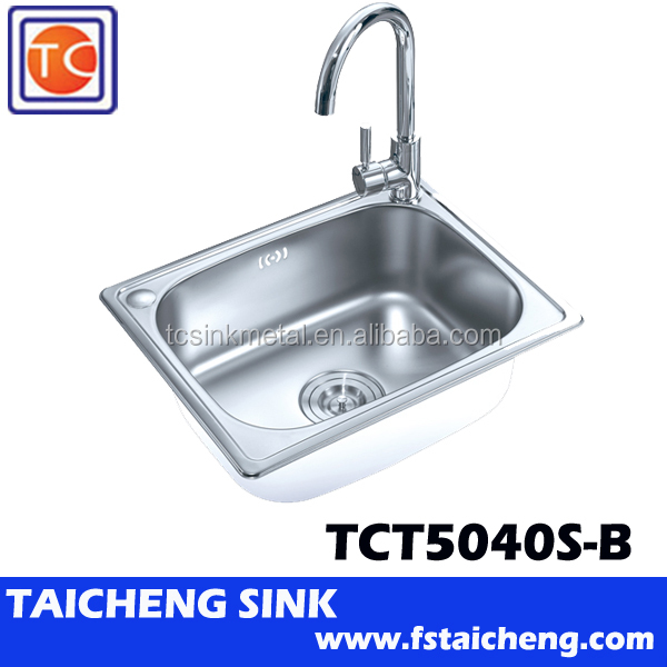 Hot Sale 0.8mm Thickness 500x400x200mm Single Bowl Kitchen Sinks