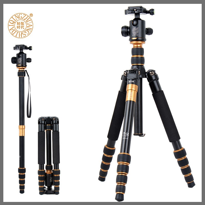 QZSD-Q668 Professional aluminum camera tripod stand 360 gimbal panoramic ballhead 1545MM digital camera & photographic tripod