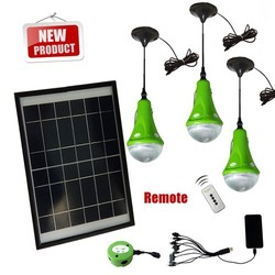 New CE Portable Solar Power Camping Kit with LED lights & USB charger