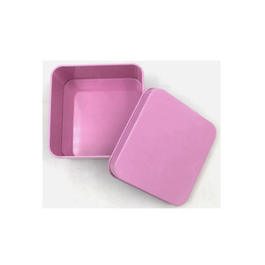 wholesale 85 x 85 mm pink print square tin box