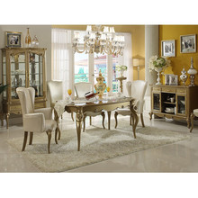 high quality 5417# antique white dining room furniture sets