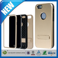 C&T modern design back hybrid kickstand case for iphone 6