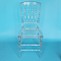 China Cheap Hot Sale Transparent Wedding Clear Resin Napoleon Chairs for Sale