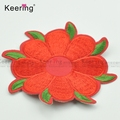 custom garment red color embroidery patch for clothing accessories