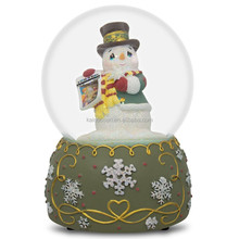 Personalized Handmade Color Painted Decorative Resin Snowman Music Box