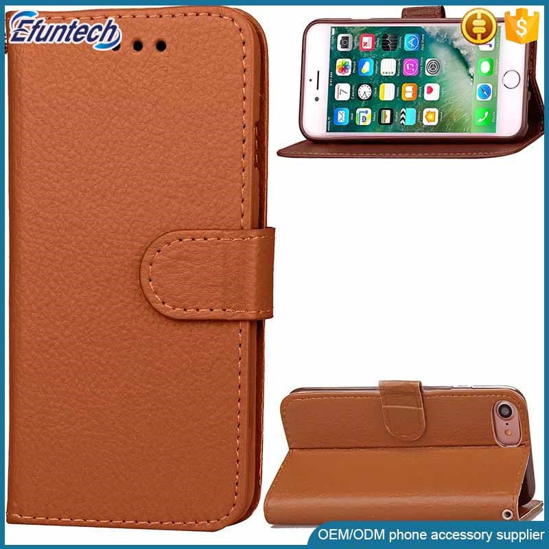 China supplier OEM tablet wallet flip case cell phone case for iphone 7 plus