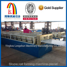 arch glazed tiles machine color steel roof tile machine LS-800-25