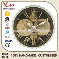 Super Price Oem Service Old Fashioned Bottle Cap Musical Wall Clock