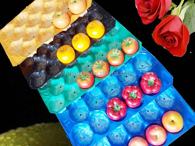 Customized Vacuum Formed Forming Fresh Produce Packaging Disposable Plastic Fruit and Vegetable Tray