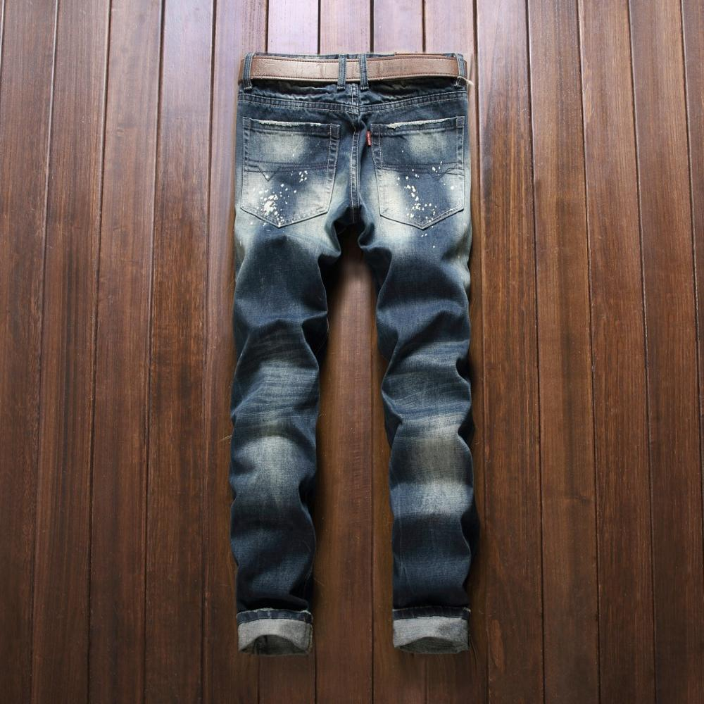 European American latest Style luxury Men casual denim trousers hole zipper Slim designer patches for jeans