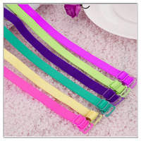 fashion multicolour ladies fancy skid resistance elastic underwear neck bra strap wholesale