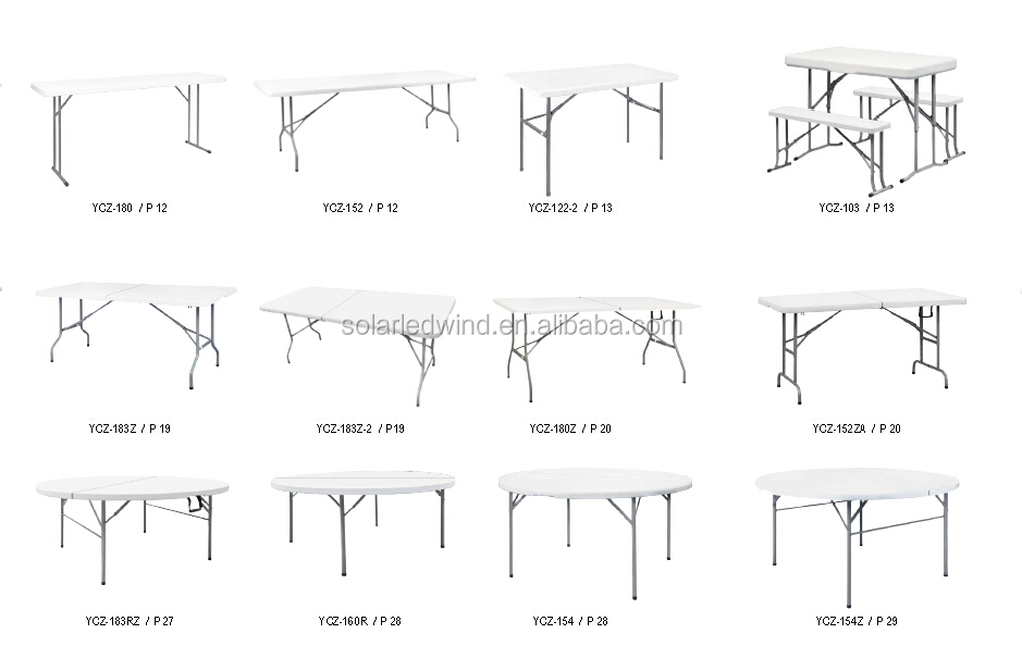 60u0027u0027 Round Plastic Fold In Half Table Outdoor Table