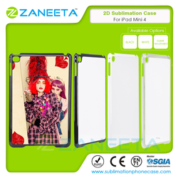 Wholesale 2D Sublimation Case for iPad Mini 4 Heat Transfer Sublimation Hard PC case for iPad mini 4 with metal sheet