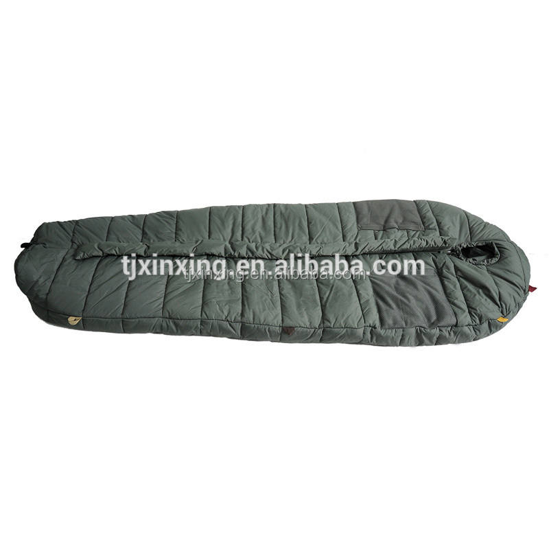 Olive Green Polyesater adult all weather sleeping bag lightweight