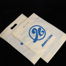 promotional price customized cheap foldable recyclable pp non woven shopping tote die cut bag guangzhou