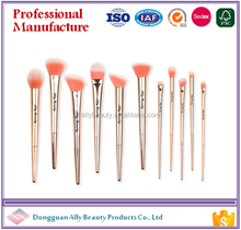 cosmetics makeup brushes 11pcs/set/kits private label beauty maquilaje cleaner 2017 catalog