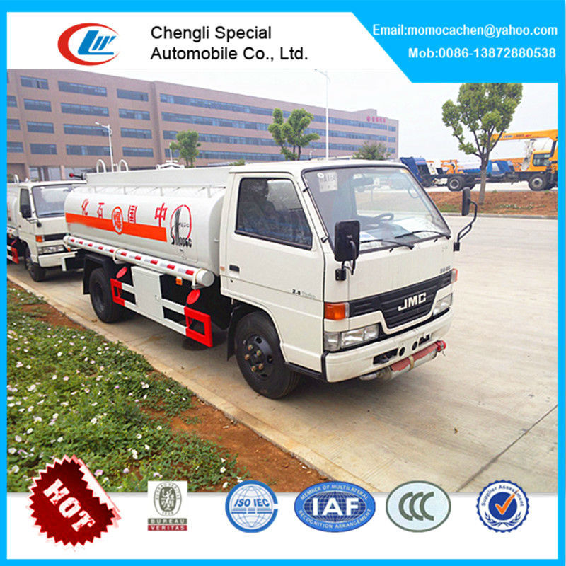 Mini fuel tank truck 4000L capacity fuel truck aircraft refueling truck of JMC for sale
