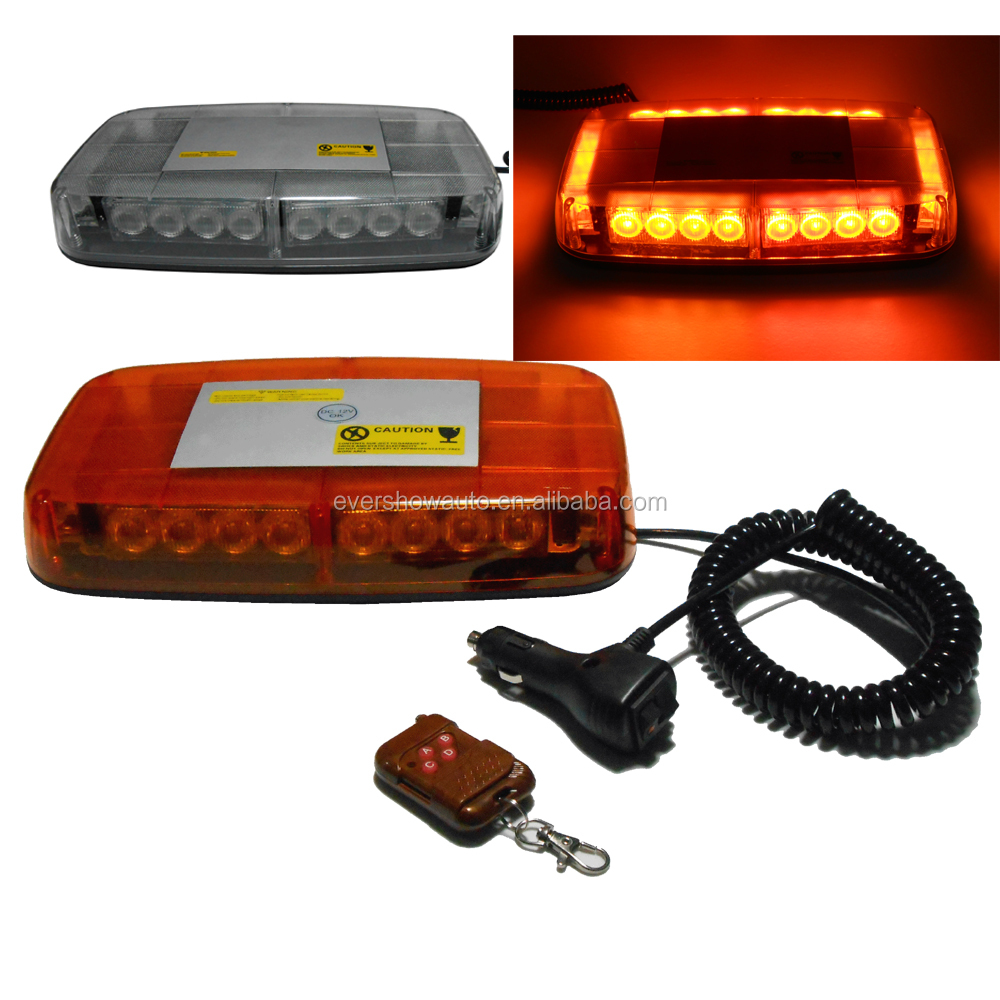 Auto amber mini strobe light bar 12v emergency lighting with remoter control