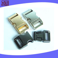 metal curved buckle, metal side release buckle,dog gold buckle for bag