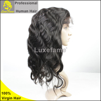 brazilian hair front lace wig,human hair lace front wigs with bangs 100 brazilian virgin hair full lace wigs