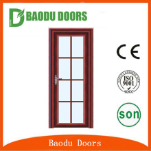 Baodu latest design interior room residential aluminum alloy door