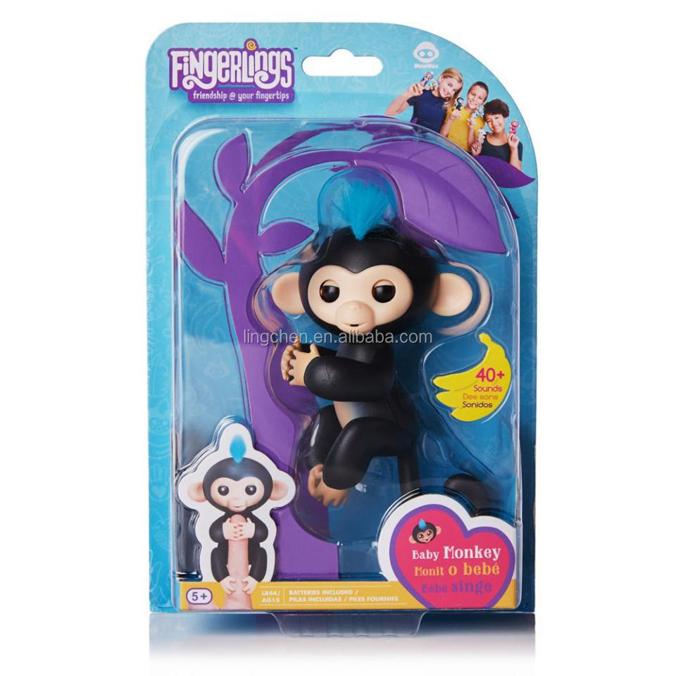 Hot sale Factory price Funny Gift Interactive Automatic sensing finger and No function Baby Monkey fingerlings Toys