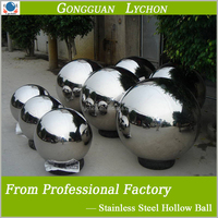 decorative large 1.5 meter 1 meter hollow stainless steel ball