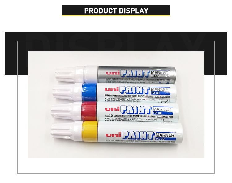 Factory supplied directly healthy 7 different ink colored industrial paint colour marker fabric markers