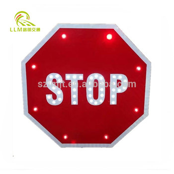 3M reflective solar slow down sign LED solar slow down traffic warning sign