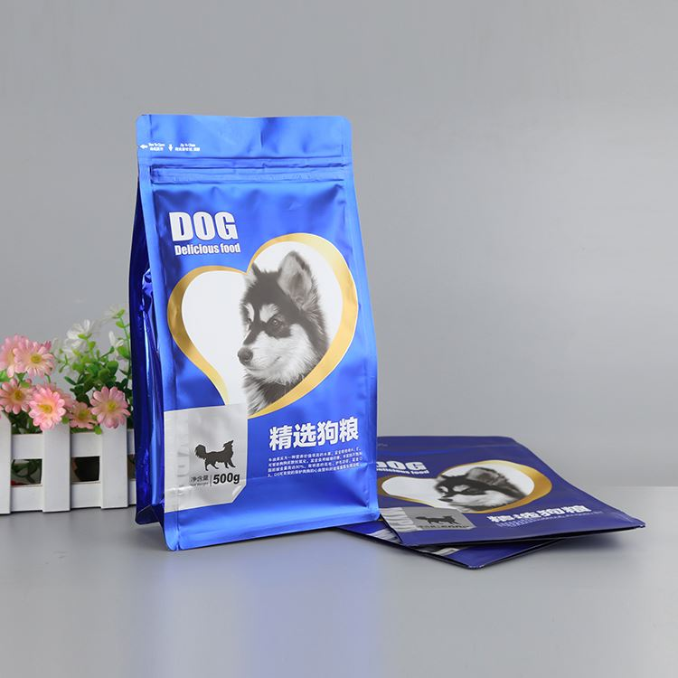 New product excellent quality laminated aluminum foi pet food package bag