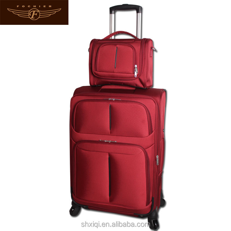 2pc woman luggage with cosmetic bag
