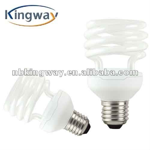 2011 hot sales half spiral cfl lamps