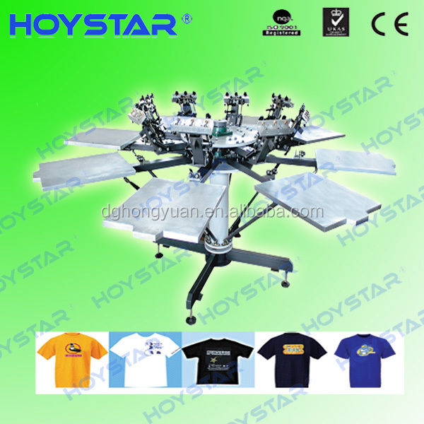 manual rotary 4 color 4 stations plastisol ink t shirt silk screen printing machine