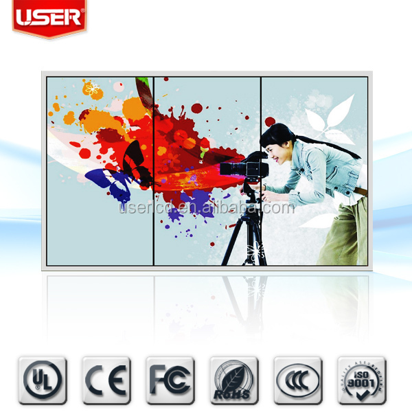 "Shenzhen factory price for retailing shop 2014 newly 46 "" curtain utra-thin led lcd video wall HD/VGA/DVI/sdi technology"