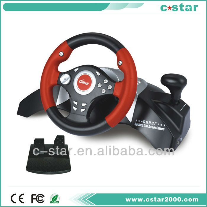 Power Racing Wheel with gear shift and foot pedal for ps3 controller