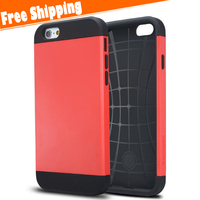 Strong Combo Hybrid Shockproof Dirt Proof Hard Rubber Case for iPhone 6G