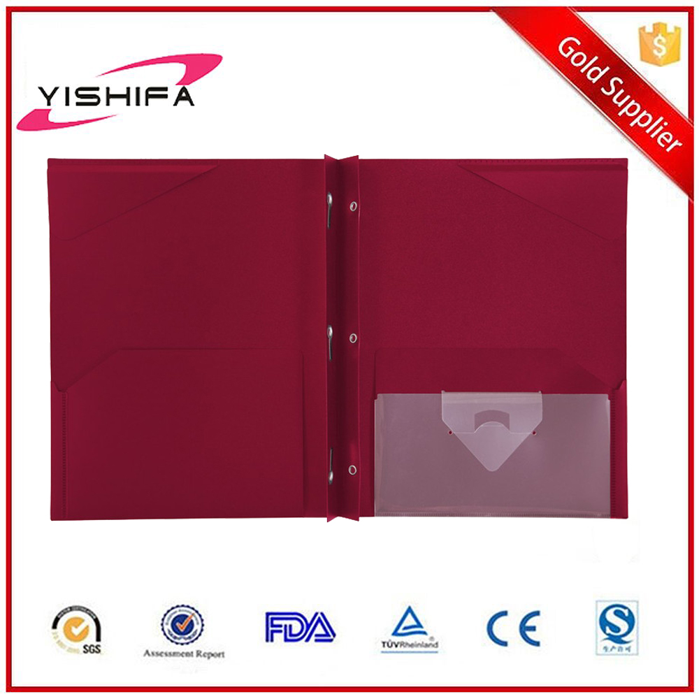 OEM factory cheap price custom printed A4 size 3 prongs pocket clear pp plastic decorate folders