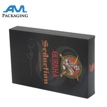Luxury design cardboard paper box for cigarette packaging wholesale