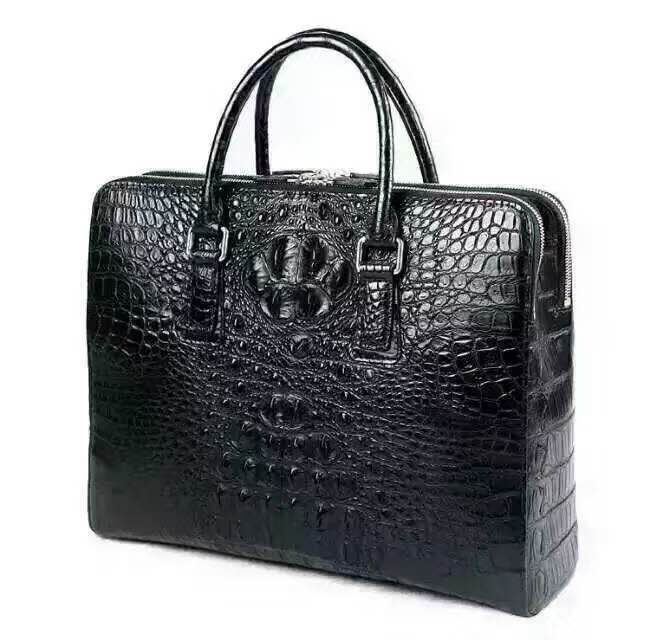 Custom 2016 New Promotional OEM Genuine Crocodile Leather Handbag