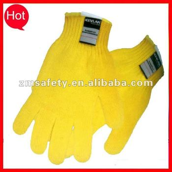 Anti cut Aramid Fiber glove for glass handle