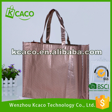 Good quality antique pp non-woven bag shopping bag with shining
