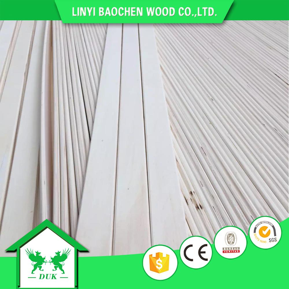 High Quality White Poplar E0 Glue LVL Wooden Slats For Bed