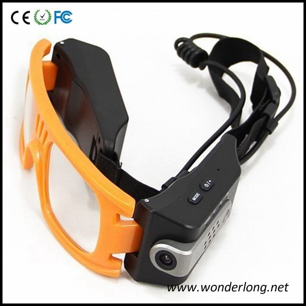 Outdoor sport Action Camera Full HD Sunglasses waterproof hd sport mini camera sunglasses driver AT80