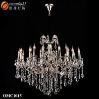 chandelier candle light,european glass chandelier OMC1015-