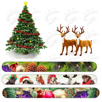 Choose your favorite christmas nail file promotional cheap 100 files 180 grit